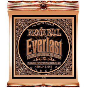 어니볼통기타줄스트링 Ernieball Everlast coated Acoustic Phosphor Bronze 2546 012-054