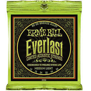 어니볼통기타줄스트링,Ernieball Everlast Acoustic Bronze,2556 (012-054)